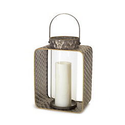 Gray and Gold Metal Lantern