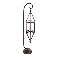 Hanging Gray Geometric Lantern