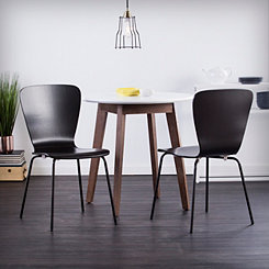 Holly and Martin Black Dining Chairs, Set of 2