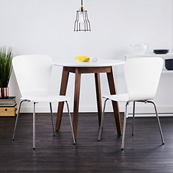 Holly and Martin White Dining Chairs, Set of 2