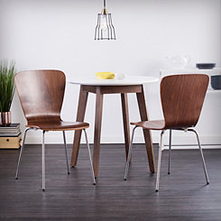 Holly and Martin Walnut Dining Chairs, Set of 2