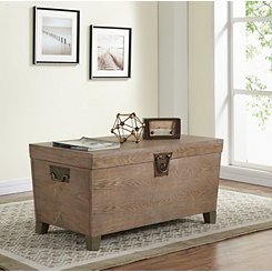 Carver Burnt Oak Storage Trunk