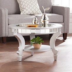 Kacee Mirrored Round Coffee Table