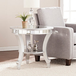 Kacee Mirrored Round Accent Table