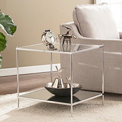 Phoebe Mirrored Accent Table