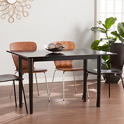 Black Convertible Console and Dining Table