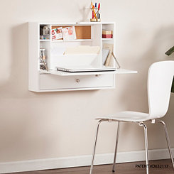 Hallie White Floating Fold-Out Laptop Desk