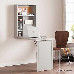 Kayla Gray Floating Fold-Out Desk