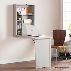 Kayla Gray Floating Fold-Out Desk