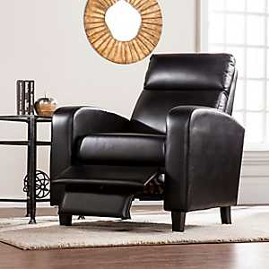 Cade Black Faux Leather Recliner