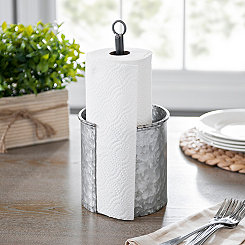 Galvanized Metal Paper Towel Holder