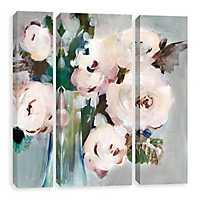 Pale Pink Bouquet Canvas Art Prints, Set of 3