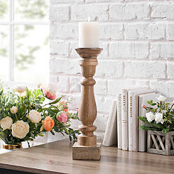 Mango Wood Candlestick, 18 in.