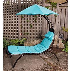 True Turquoise Dream Lounger with Umbrella