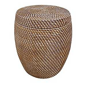 Hapao Rattan Barrel Storage Stool