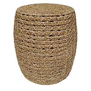 Natural Seagrass Barrel Storage Stool