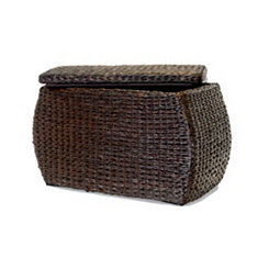 Brown Havana Weave Rectangular Storage Ottoman