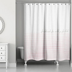She Believed She Could Pink Shower Curtain