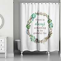 Grateful Succulent Wreath Shower Curtain