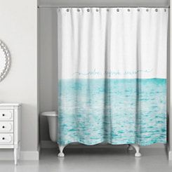 Relax Refresh Renew Shower Curtain