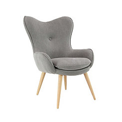 Contemporary Gray Accent Chair