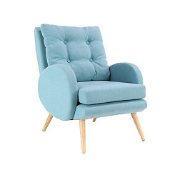 Contemporary Turquoise Accent Armchair