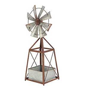 Metal Windmill Planter