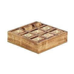 Rustic Wood Tic Tac Toe Board