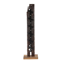 Teak Wood and Metal Wine Rack