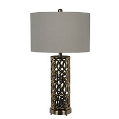 Gold Pattern Metal Table Lamp