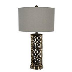 Gold Pattern Metal Table Lamp