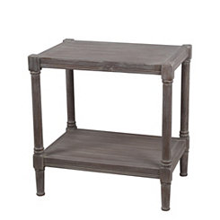 Winter Melody Wooden Accent Table