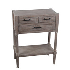 Winter Melody 3-Drawer Accent Table