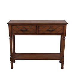 Honeynut 2-Drawer Console Table