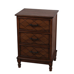 Honeynut 3-Drawer Side Table