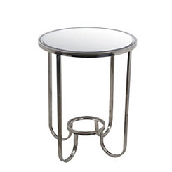 Stainless Steel Mirrored Accent Table