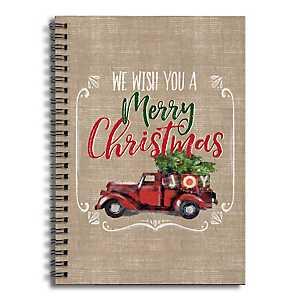 Merry Christmas Truck Spiral Notebook
