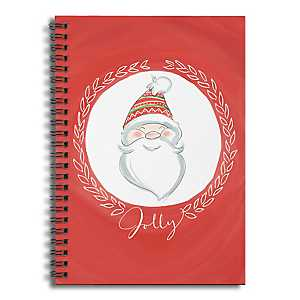 Jolly Santa Truck Spiral Notebook
