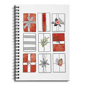 Rows of Presents Truck Spiral Notebook