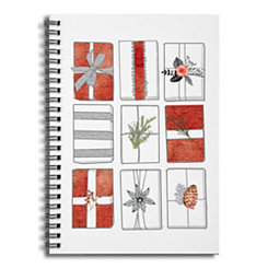 Rows of Presents Spiral Notebook