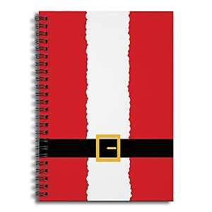 Santa Suit Truck Spiral Notebook