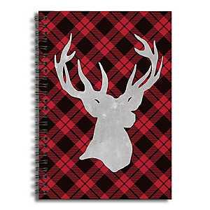 Plaid Reindeer Spiral Notebook