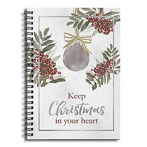 Christmas in Your Heart Spiral Notebook