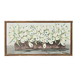 Row of Tulips Framed Art Print