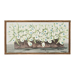 Row of Tulips Framed Art Print