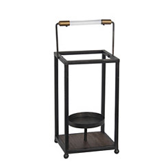 Black Metal Open Frame Lantern, 14 in.