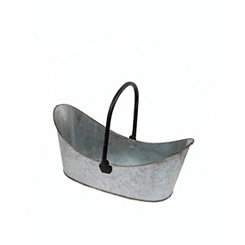 Silver Metal Basket