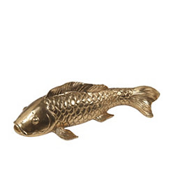 Golden Koi Statue