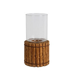Organic Wood Candle Holder, 12 in.
