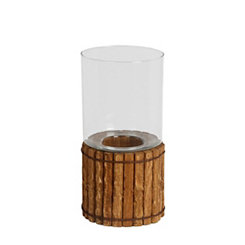 Organic Wood Candle Holder, 15 in.